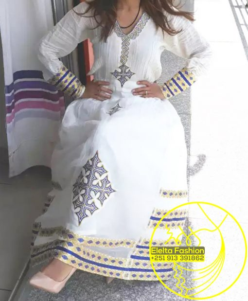 Ethiopian Traditional Dress Fashion ELELTA10