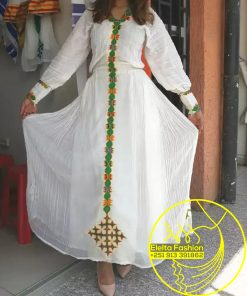 Ethiopian Traditional Dress Fashion ELELTA14