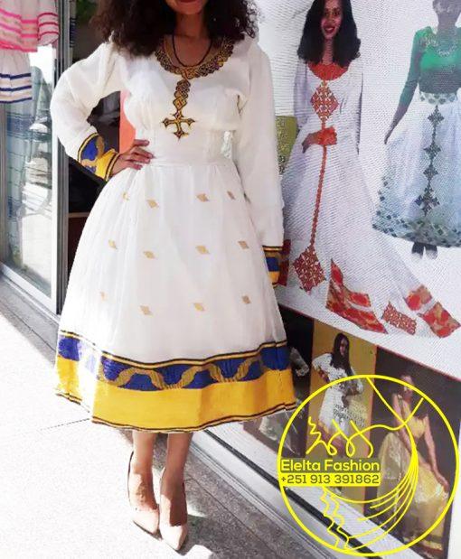 Ethiopian Traditional Dress Fashion ELELTA19