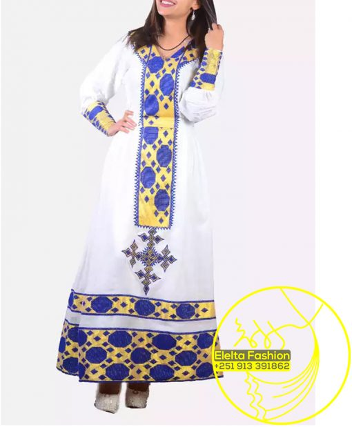 Ethiopian Traditional Dress Fashion ELELTA25