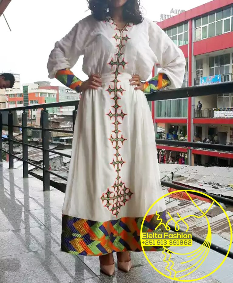 Ethiopian Traditional Dress Fashion ELELTA5