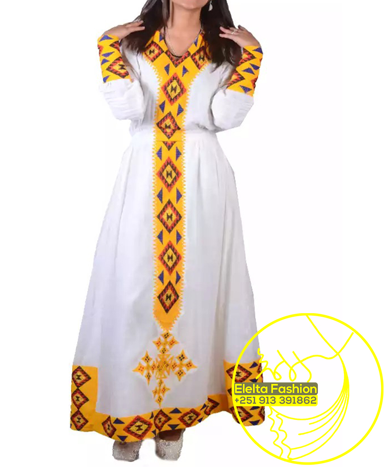Ethiopian Traditional Dress Fashion ELELTA22